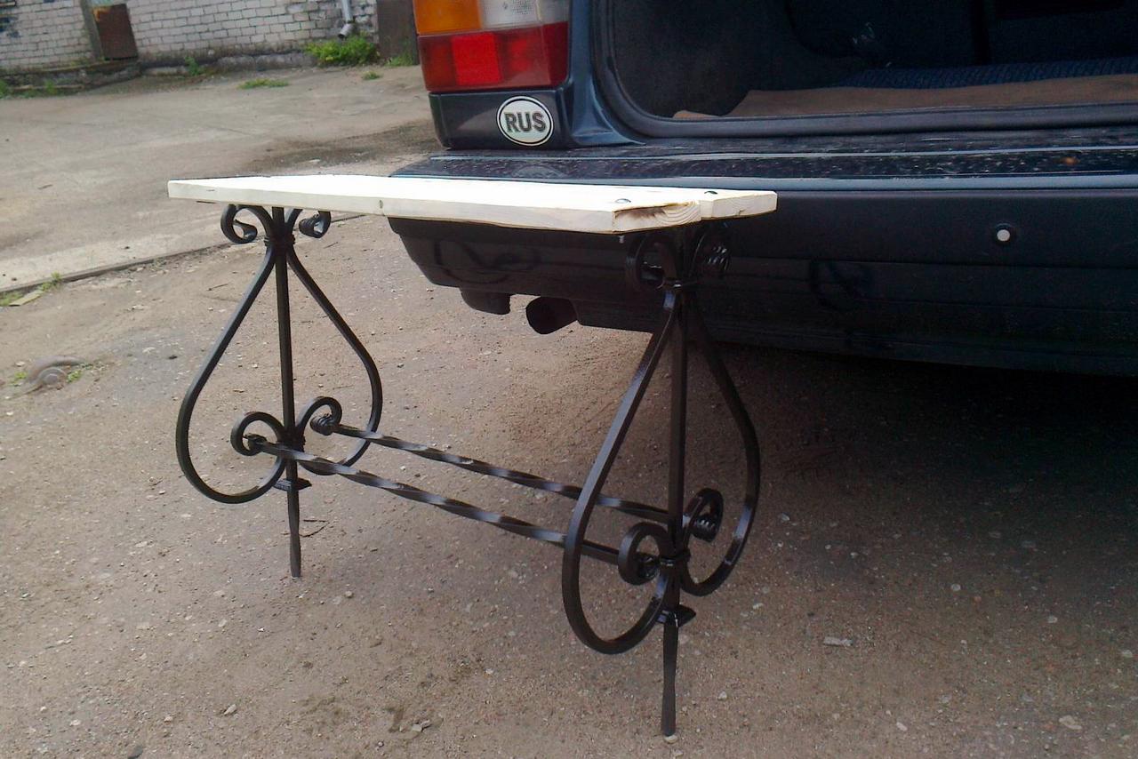 Железный столик на кладбище своими руками 3