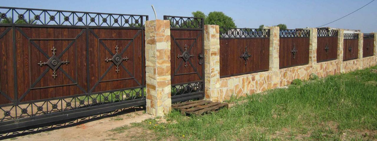 Экогейт ворота сегменты металлические на ворота